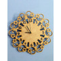 Relógio De Parede Feito Em Mdf 6mm Floral