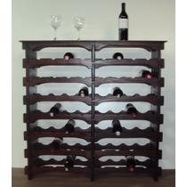 Adega Madeira Vinho 56 Garrafas Tipo Mesinha Só 263,00 R$