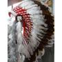 Cocar Indigena Repro Nativo Americano Xamanismo Marrom Branc