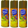 Kit C/ 3 Tinta Spray Decor Paint 150ml Ouro Acrilex