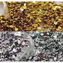Meia Perola Chatons Chaton Prata Dourado (2mm) 500unid