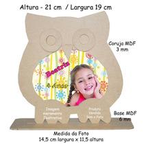 10 Porta Retrato Mdf Cru Corujinha - Lembrança Festa Coruja