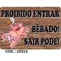 Placa Adesiva - Cantinho Do Churrasco - Mdf - 24x40 Cm