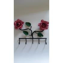 Porta-chave Para Dependurar Com Flores (artesanato Lider )