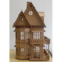 Casa Casinha Mdf 1,50 Mts P/ Bonecas Barbie E Monster High