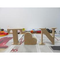 Letras Nome Em Mdf 15cm Decoração De Mesa Festa Palavra