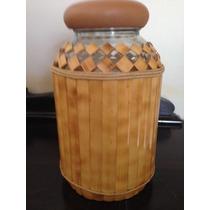 Artesanato Em Bambú, Potes, Garrafas, Açucareiro, Conserva