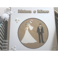 Álbum Personalizado De Casamento De Scrapbook Para Fotos
