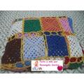 Colcha De Solteiro Em Croche Square Colorida Frete Grátis