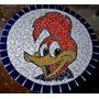 Tampo De Mesa Em Mosaico Do Pica Pau 70cm
