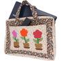 Bolsa De Patchwork Para Notebook Vasos De Flores