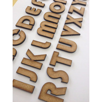 5 Letras Mdf Fonte Bauhaus 3 3cm De Altura
