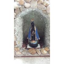 Gruta Capelinha Oratório Com Luz N.s.aparecida Pedra Natural