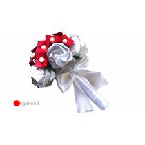 Origami - Buquê De Rosas Com Hortênsias Para Daminha