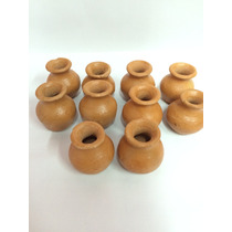 Vaso De Barro Pequeno 5cm X 5 Cm - 10 Un. Artesanal Vasinhos