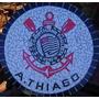 Tampo De Mesa Em Mosaico Do Corinthians De 60 Cm