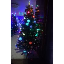 Arvore De Natal Fibra Otica E Estrelas Led Efeito Rgb 1,8m