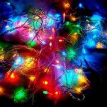 Pisca Pisca Natal Colorido 100 Led 110v 9 Metros 8 Funções