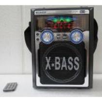 Caixa Som C Microfone Karaoke Gravador Voz Usb Pen Drive 741