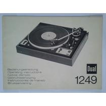 Manual Original Toca Discos Dual 1249.