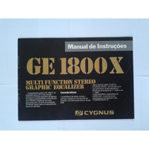 Manual Original Equalizador Cygnus Ge 1800x