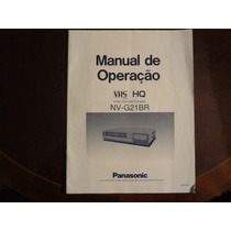 Manual Original Video Cassete Panasonic G 21