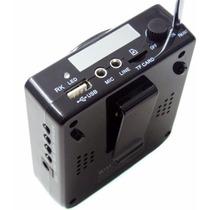 Microfone Amplificado Boas Bq810 P Palestras, Mp3, Usb, Rádi