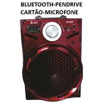 Caixa De Som Bluetooth Recarregável Pendrive Cartão