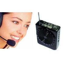 Caixa Amplificador Voz Palestras Professor + Bateria Extra