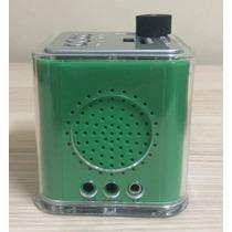Caixa De Som Portatil Mp3 Pendrive Midi Japan Cor Verde