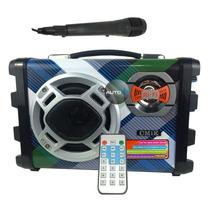 Caixa Som Karaoke Speaker Portátil Usb Mp3 Rádio Micro Sd