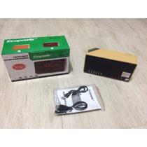 Caixa De Som E Rádio Relógio Ecopower Ep-2130