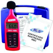 Decibelímetro Digital C/ Certificado Calibração Frete Gratis
