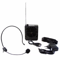 Caixa De Som Megafone Microfone Kit Completo P/ Professor