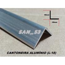 Ferragens P/ Case Cantoneira Alumínio C/ Abas 18mm