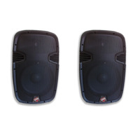 Kit 2 Caixas Som Ativa Prime Sound Usb Bluetooth 15pol 340w