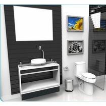 Gabinete / Armário Para Banheiro Paris 80 Alto Padrão