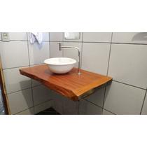 Bancada Para Banheiro Ou Lavabo Em Madeira Peroba Rosa