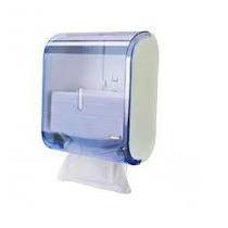 Toalheiro Suporte Dispenser Porta Papel Toalha Cristal Azul
