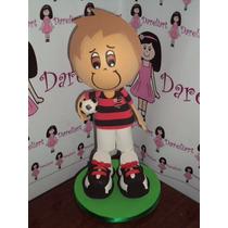 Boneco Jogador Do Flamengo Em Eva 3d 23 Cm - Time De Futebol