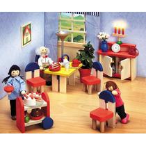 Miniaturas - Casa De Bonecas - Móveis P/ Decoração - Mesa.