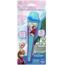 Microfone Da Frozen - Original - Com Som E Iluminado