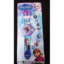 Frozen- Relógio Projetor-digital- Lembrancinha