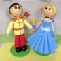 Princesa Cinderela E Príncipe Em Eva 3d