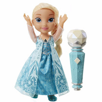 Bonecas Sing-a-long-elsa Frozen Disney Com Microfone Mattel
