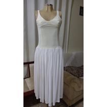 Vestido Branco Na Parte De Cima No Busto Laícra