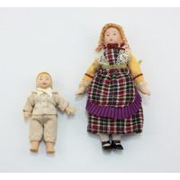Miniatura Bonecos-esc.1/12-crianças Casa Boneca - Porcelana
