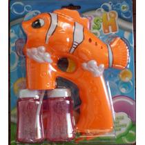 Pistola De Bolhas De Sabão Peixe Memo + Brinde