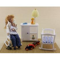 Miniatura Casa De Boneca- Esc.1:12 - Quarto Do Bebê - Móvies