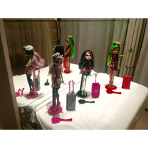 Bonecas Monster High - Rochelle, Jinafire E Skelita